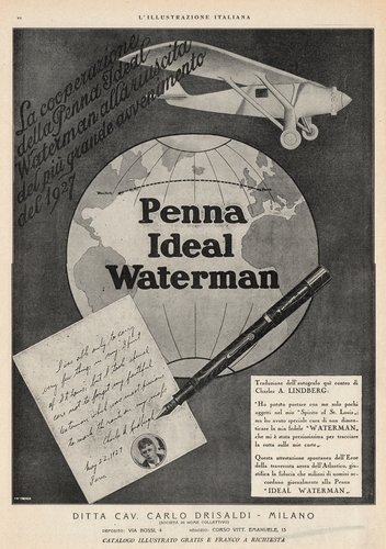 WATERMAN - 5x. 1927-12-25. L'Illustrazione Italiana -<br /> Anno LIV, n.52 pagVI
