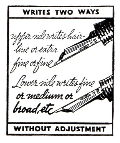 47. 1935. PARKER - Vacumatic two-way writing point, detail. 1935-04. The National Geographic magazine.jpg
